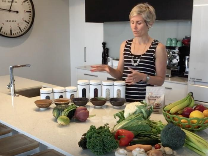 Dr Jolanta shows the healthy foods included in a detox for weightloss