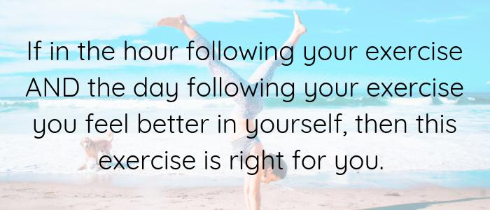 choosing right exercise for your body