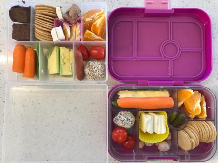Healthy school lunchbox